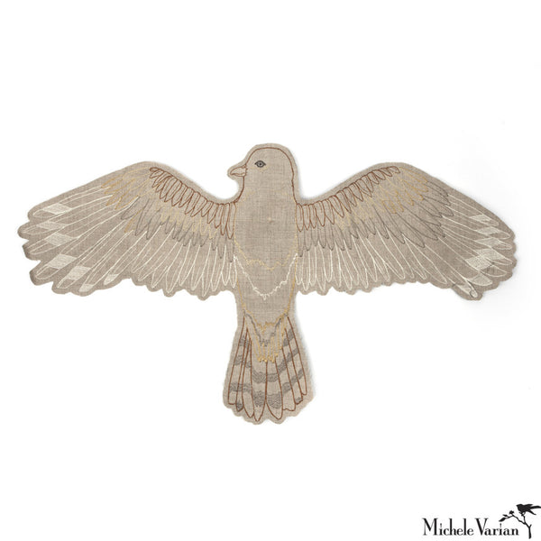 Embroidered Falcon Mobile or Wall Hanging