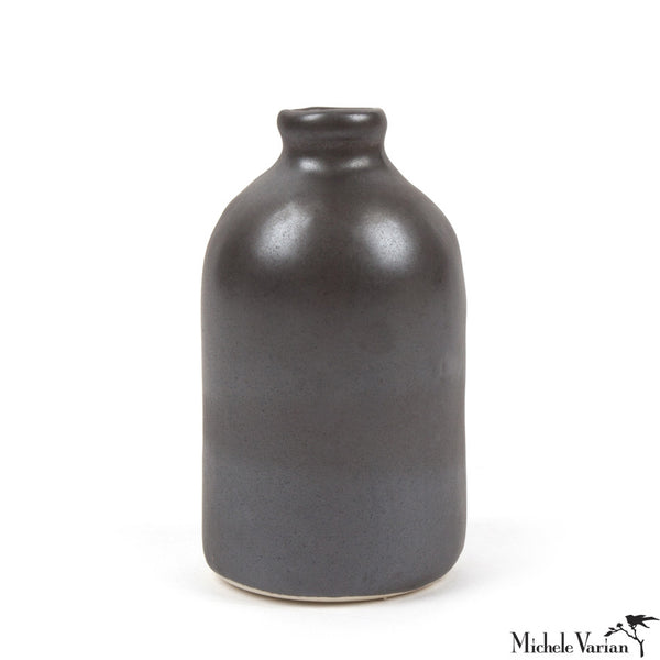 Bud Vase Metallic Black
