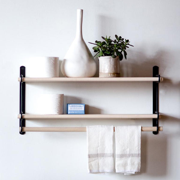 Black Double Wall Rack