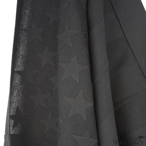 Black Wool American Flag