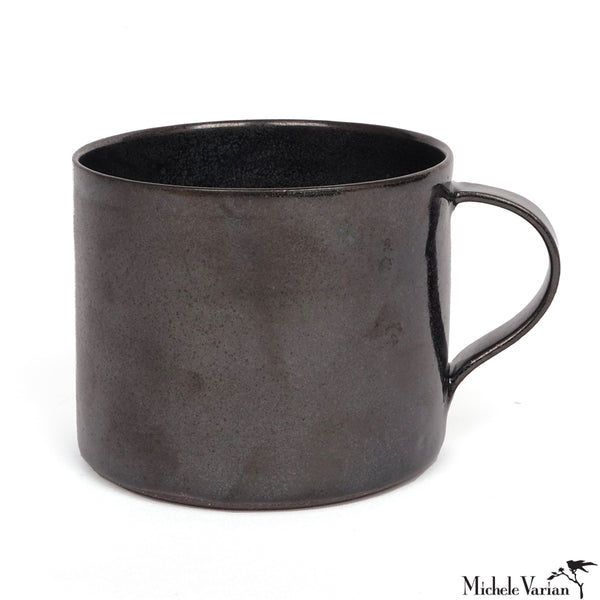 Wheel Thrown Mug Black