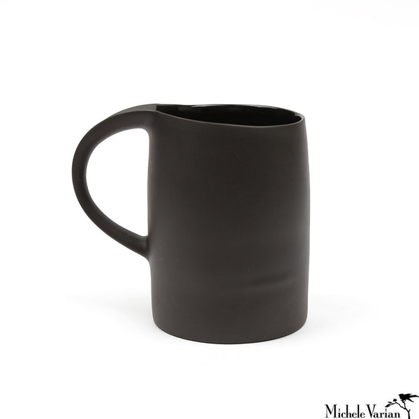 Matte Porcelain Mug Black Set of 4