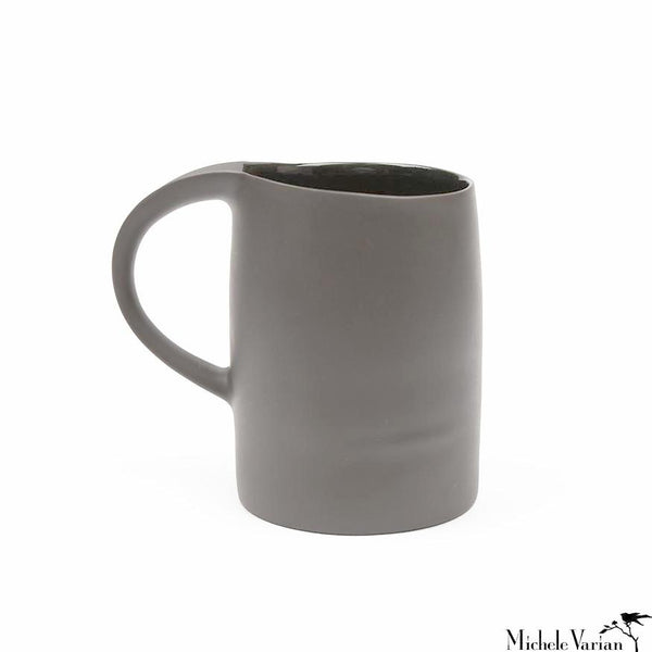 Matte Porcelain Mug Grey Set of 4