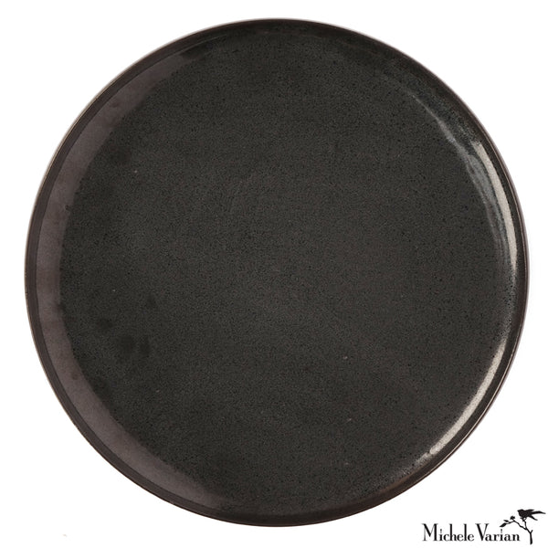 Wheel Thrown Dinner Plate Black