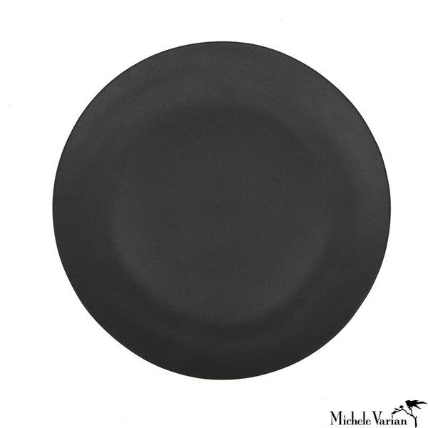 Matte Porcelain Side Plate Black Set of 4