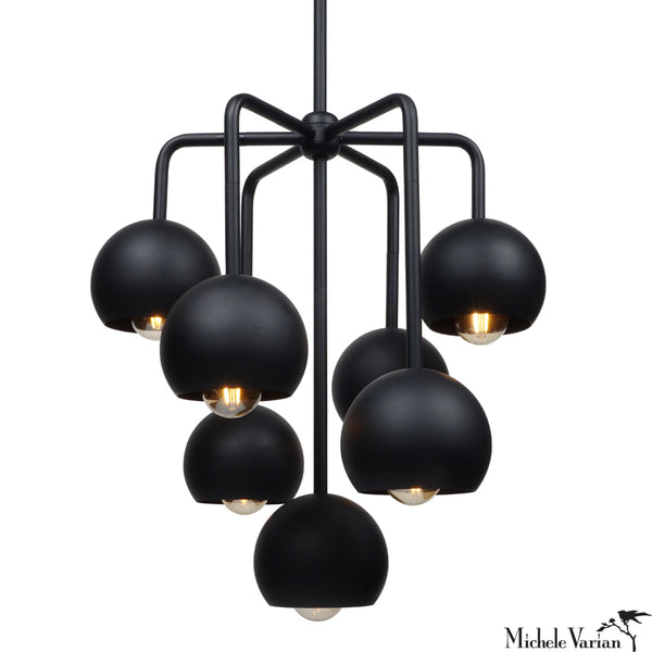 Septetable Bubble Chandelier Light Matte Black