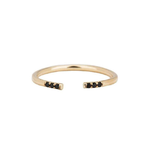 Black Equilibrium Cuff Ring