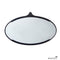 Black Leather Wide Oval Mirror