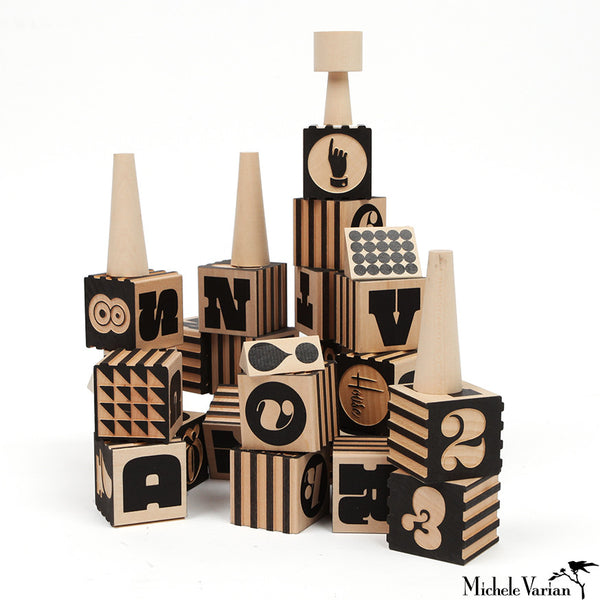 Wood Typography Blocks