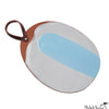 Blot Painted Clay Oval Platter in Pale Blue