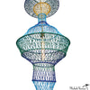 6 Foot Woven Totem Pendant No 8 Green Blue Yellow