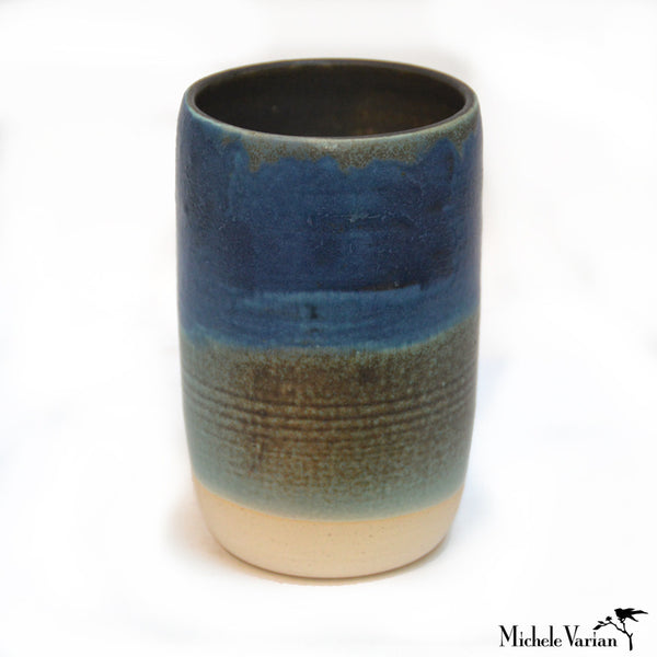 Blue and Green Ceramic Vessel