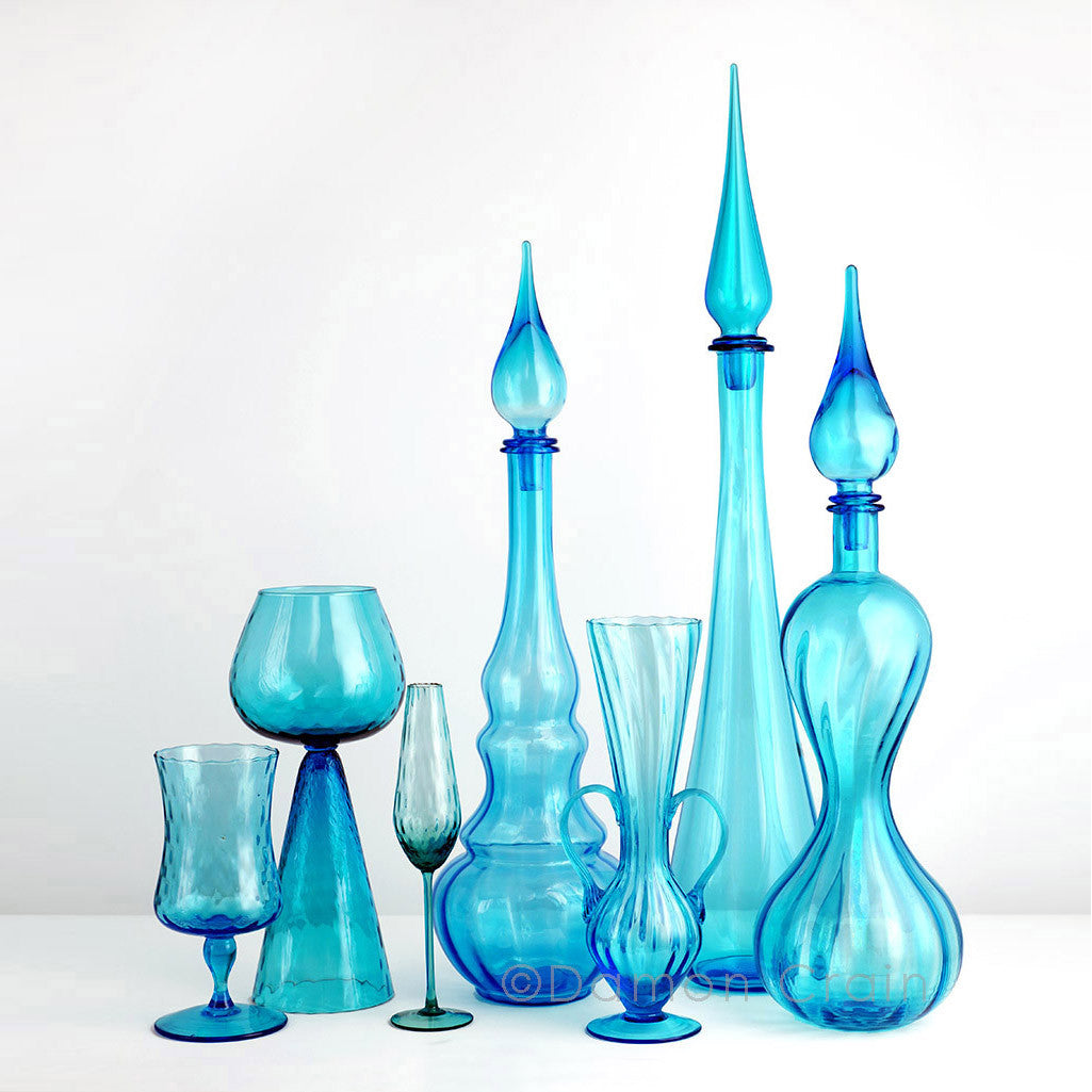 Empoli Glass Blue Group 1