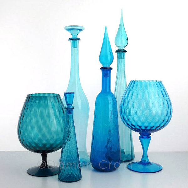 Empoli Glass Blue Group 2