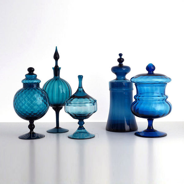 Empoli Glass Blue Group 6