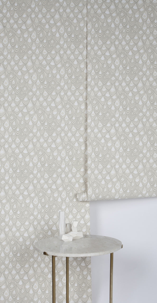 Boho Diamond Wallpaper Snow Stone