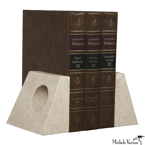 Marble Cut Out Bookends