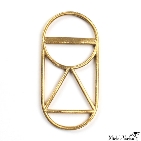 Geometric Brass Bottle Opener Triangle