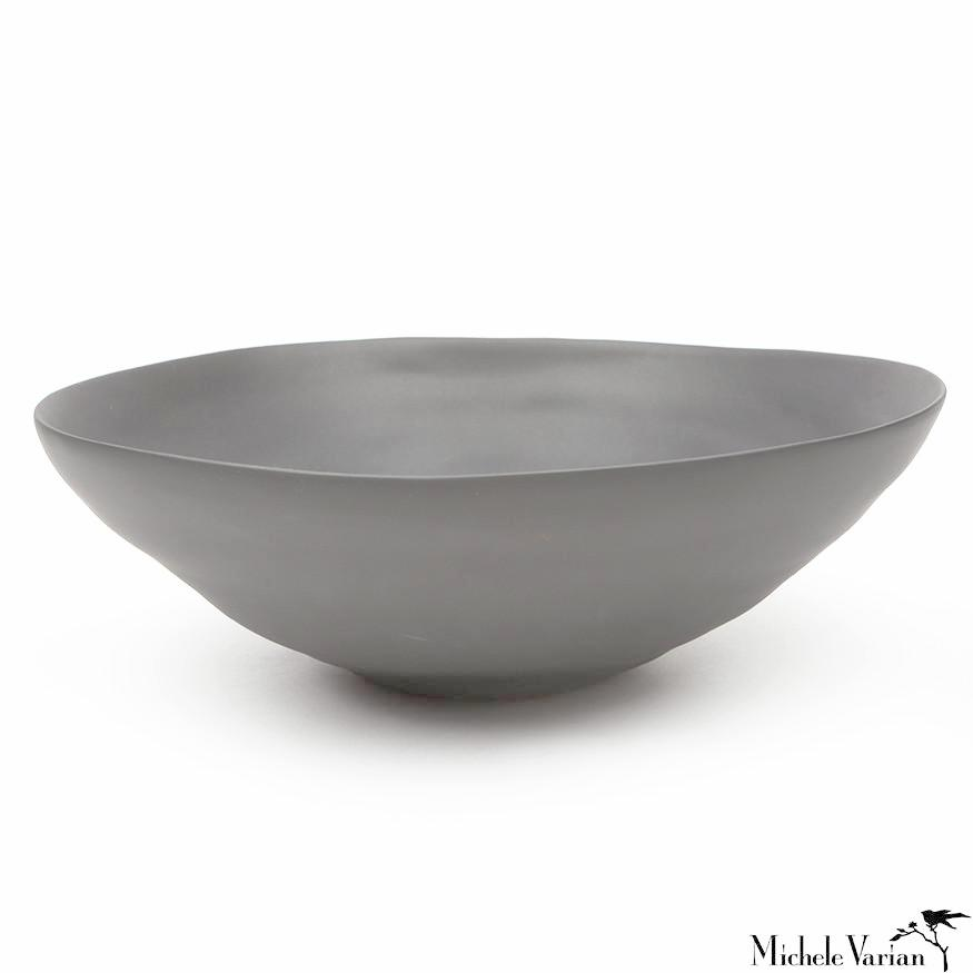 Matte Porcelain Serving Bowl Grey - Extra Large