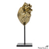 Brass Anatomical Heart On Stand