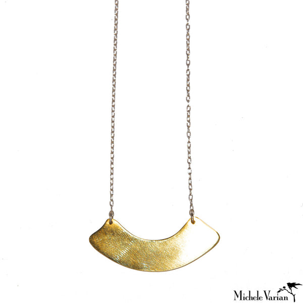 Brass and Silver Arch Necklace