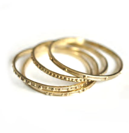 Set of 4 Brass Stacking Bangles