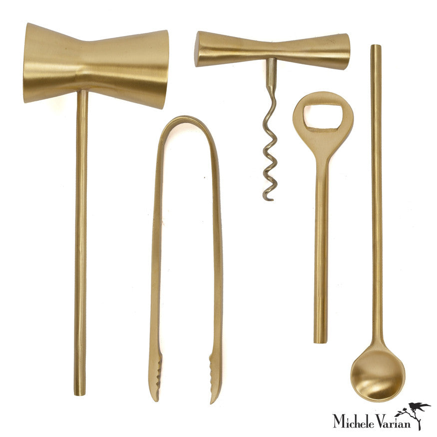 Brass Bar Tools - Set of 5
