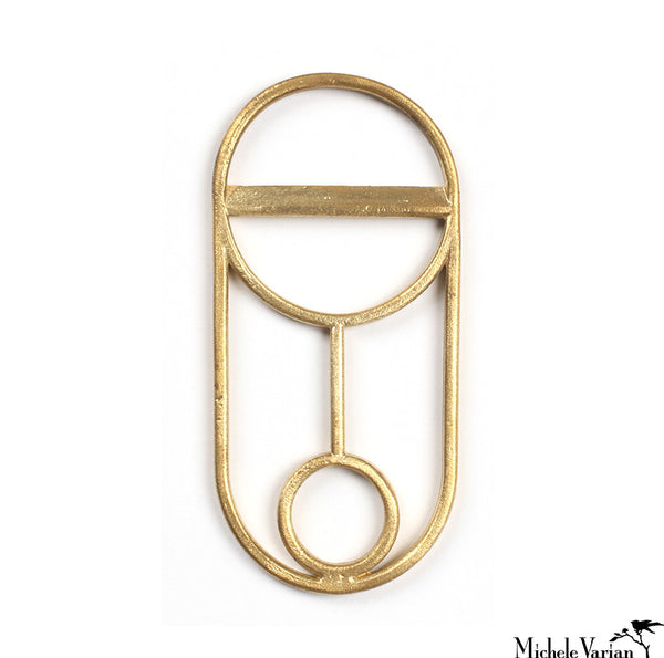 Geometric Brass Bottle Opener Circle