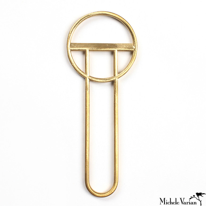 Geometric Brass Bottle Opener Tall