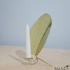 Brass Reflector Plate Candle Holder