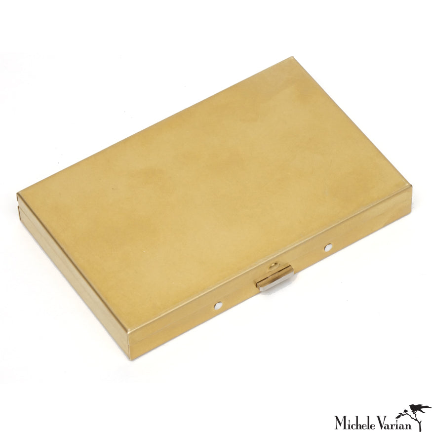 Brass Patina Card Carrier Case