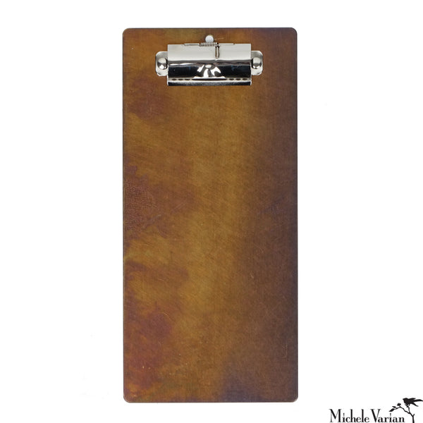 Brass Patina Clipboard