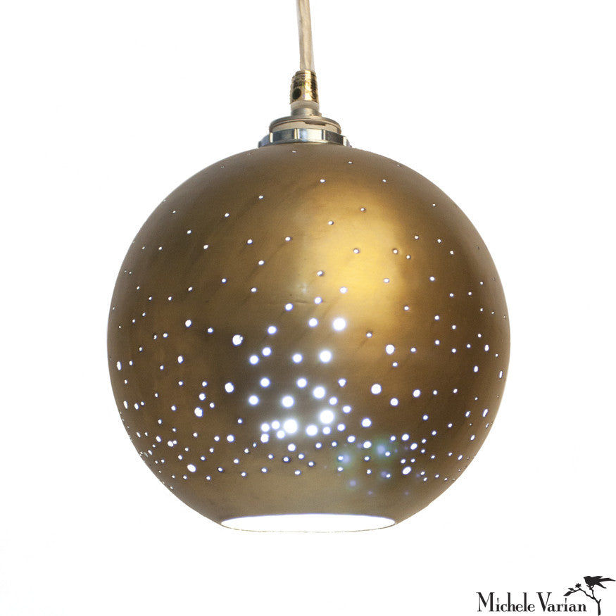 Constellation Pendant Small Brass Globe
