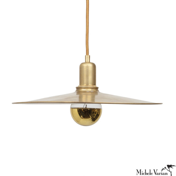 Primary Discus Pendant Light in Brass 14""
