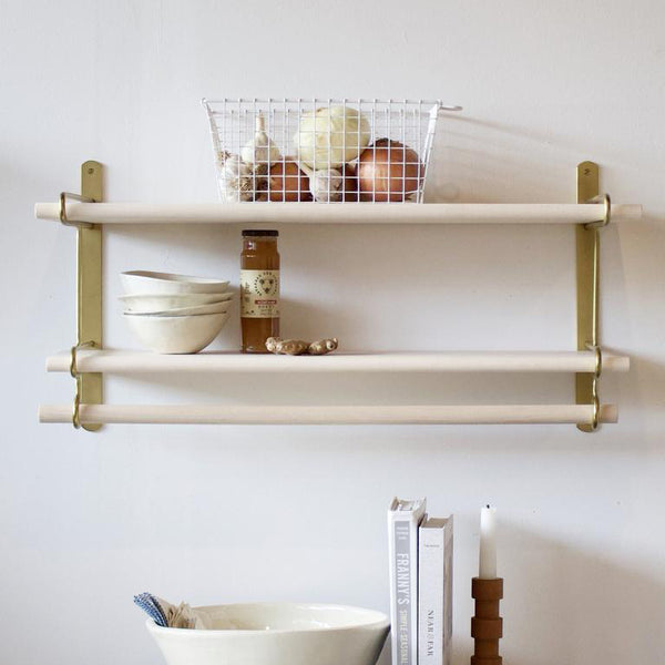 Brass Double Wall Rack