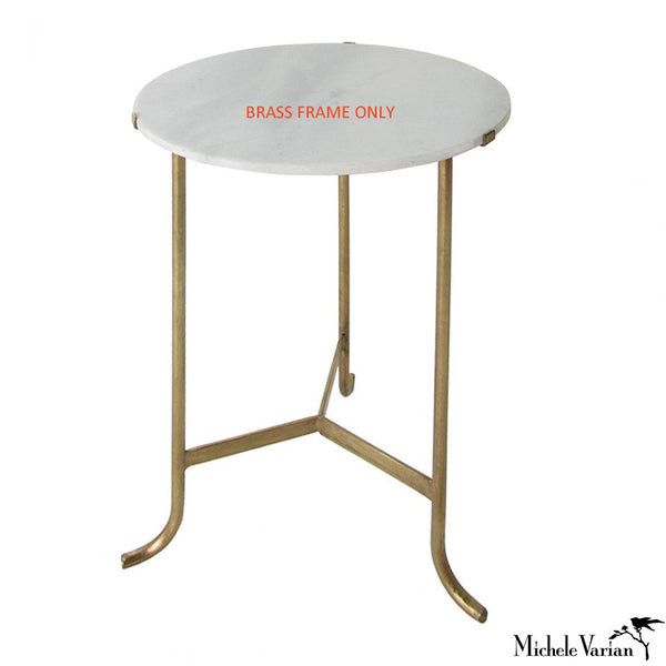 Occasional Table Brass Finish Frame ONLY