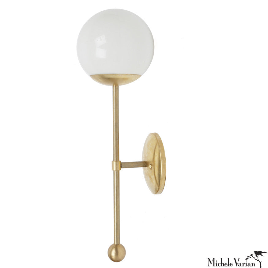 Brass Globe Sconce Light