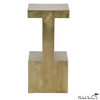 Brass Finish I Beam Side Table