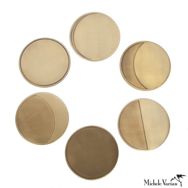 Brass Over the Moon Coasters