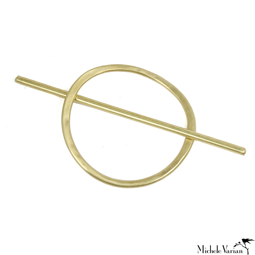 Brass Oval Hair Slide