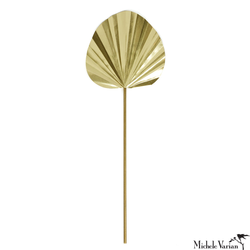 Brass Palm Leaf