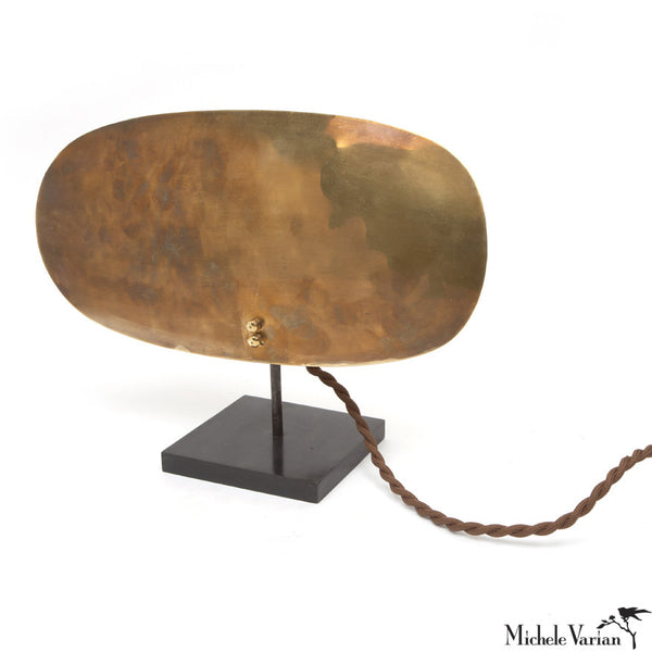Primitive Brass Shield Lamp - Wide