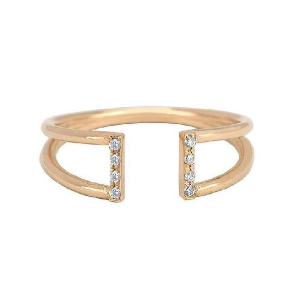 White Diamond Buckle Ring