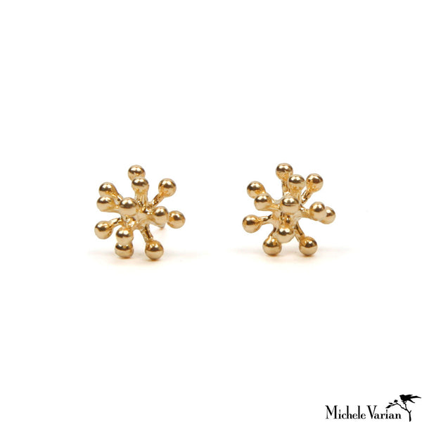 Tiny Gold Burst Earrings
