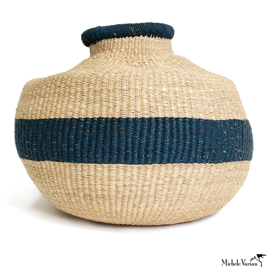 Blue Stripe Pot