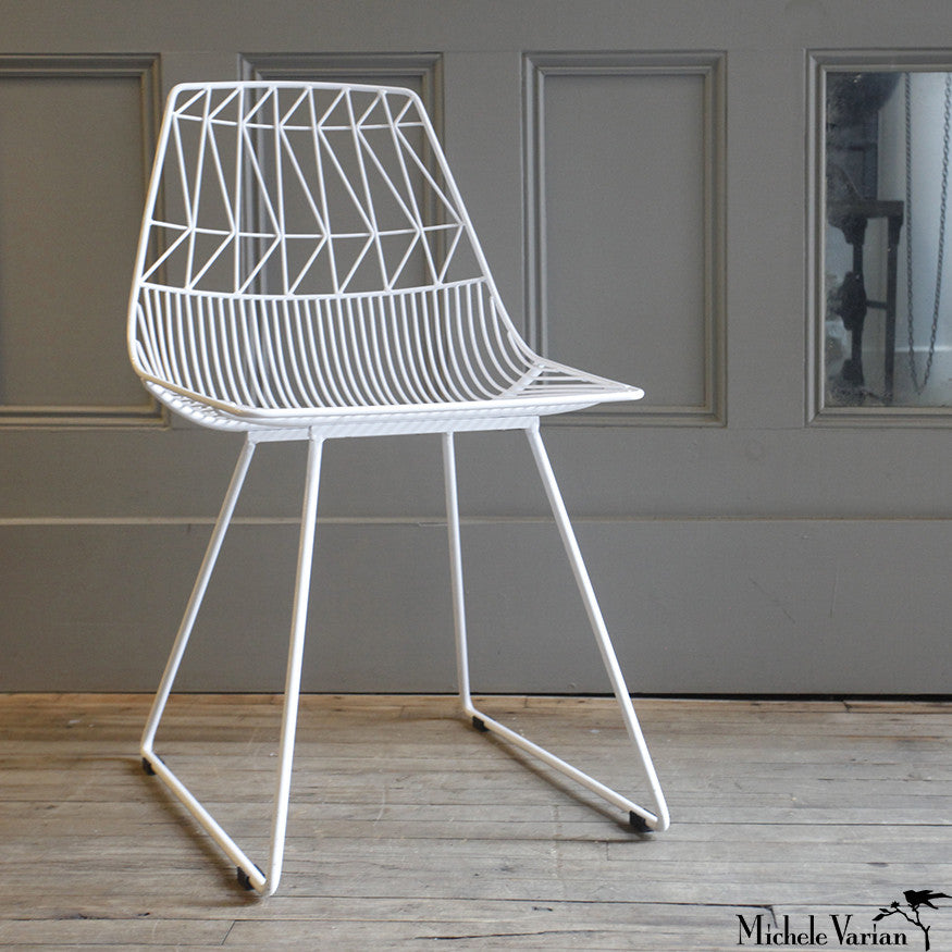 White Wire Chair Michele Varian Shop