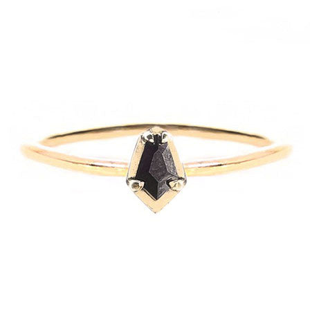 Black Diamond Scarab Ring