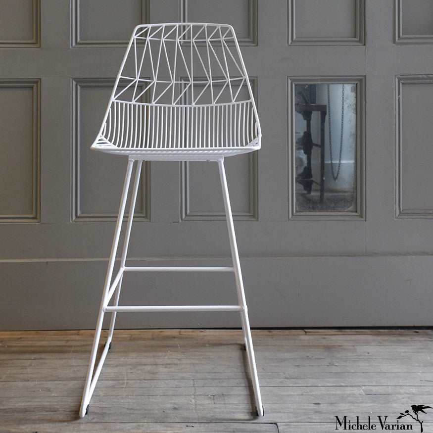 White Wire Stool