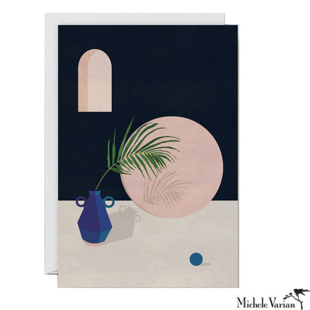 Blue Vase with Leaf Card