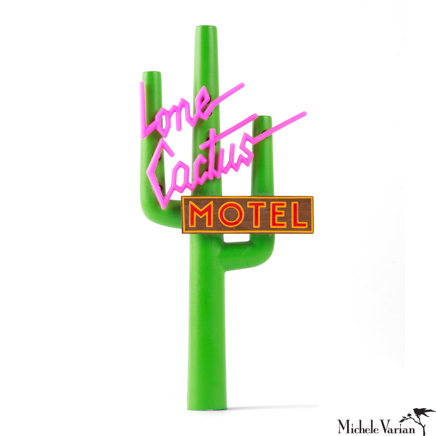 Lone Cactus Mini Motel Sign